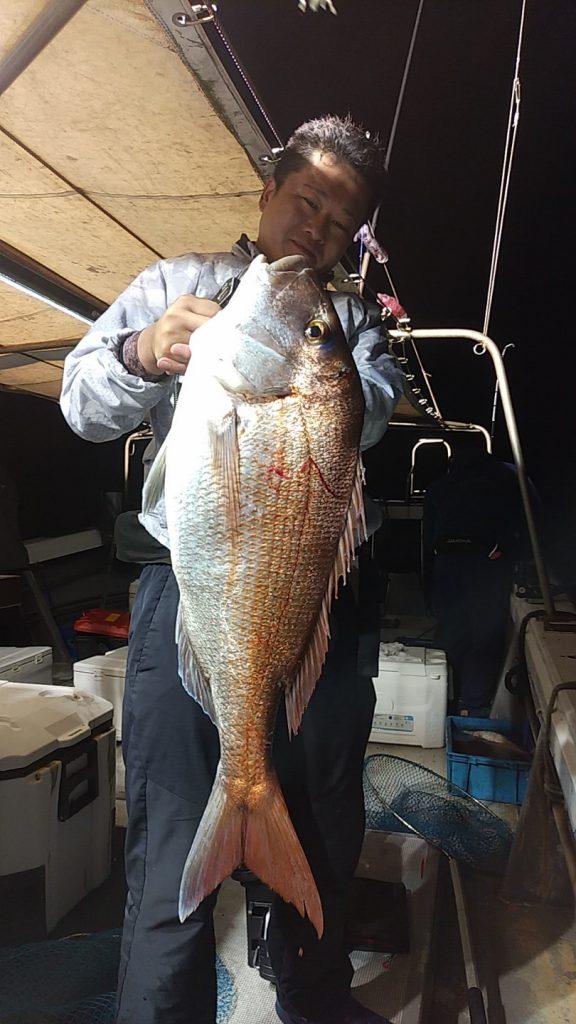 5月14日夜焚きイカ・タイ釣り