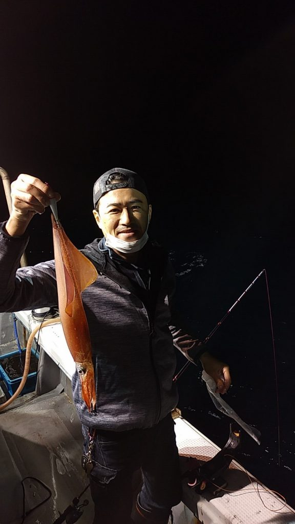 5月22日夜焚きイカ・タイ釣り